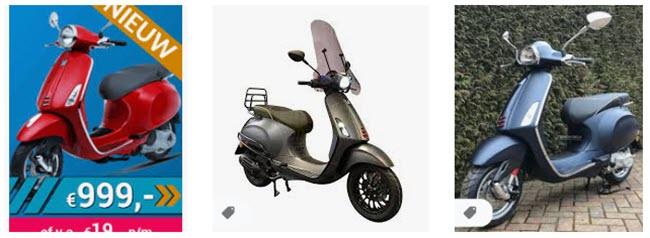 voordelen leasen vespa scooter